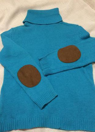 Теплый мягкий свитер гольф от zara knit