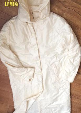 Белое пальто одеяло на синтепоне marks&spencer