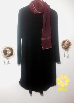 Черное платье свободного кроя massimo ditti