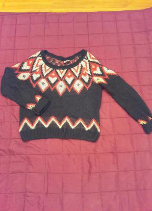 Вязаный свитер оверсайз h&m