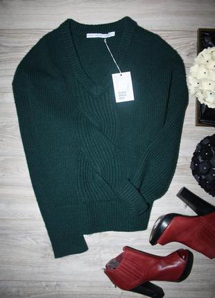 Шикарный свитер с косой и широкими рукавами
