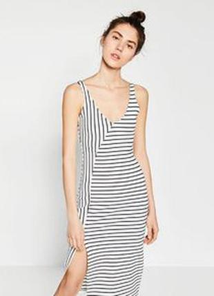 Платье полоска асиметрия
