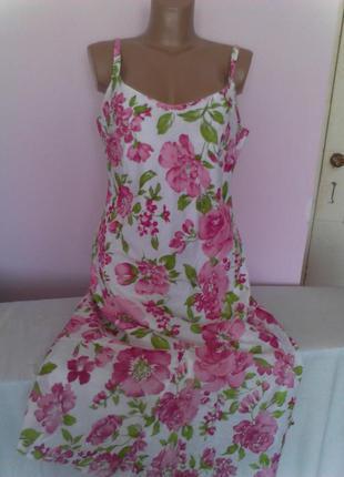 Великолепное платье принт розовые розы