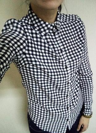 Рубашка в клетку topshop