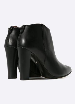 Ботильоны кожаные каблук ботинки