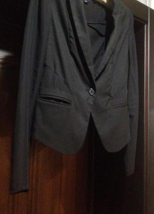 Стильный пиджак с вставками шифона top shop