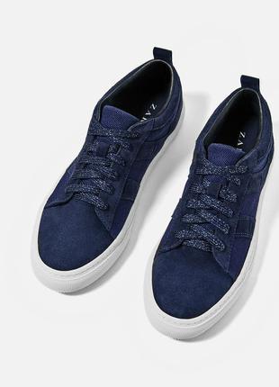 Новые замшевые кроссовки zara (36-40)