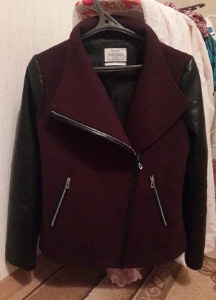 Пальто косуха bershka