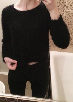 Шикарний укорочений светр травка   f&f