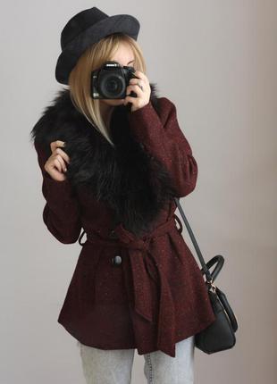 Дуже гарне пальтішко!/ пальото/ еко-мех/ еко-хутро