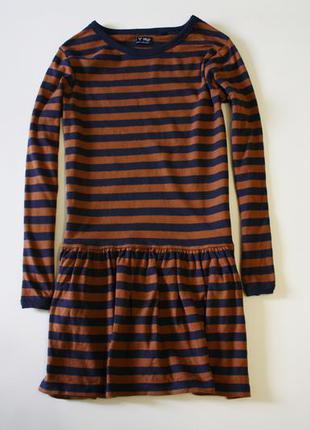 Платье в полоску с начесом next очень приятное