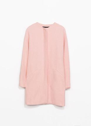 Пальто бойфренд нежно розовое