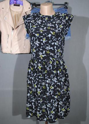 Очаровательное платье mango размер s сарафан принт цветы