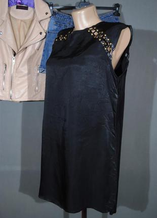 Стильное черное платье forever 21 размер l туника черная