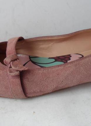 Удобные замшевые туфли от clarks..размер 39