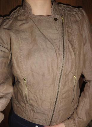 Куртка-косуха ветровка жакет из органического хлопка и льна