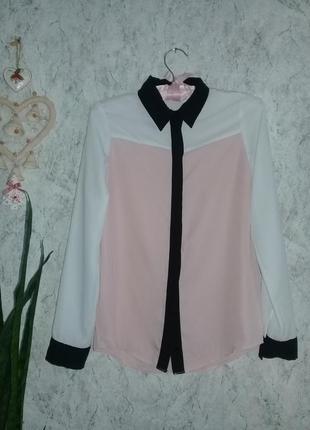 Трехцветная блуза р.42 от topshop