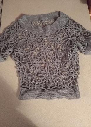 Блуза вязанная