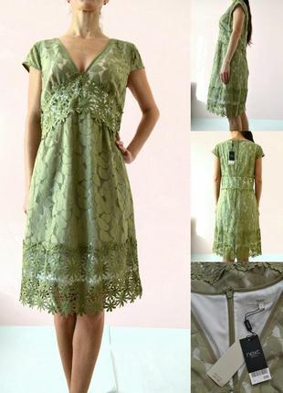 Новое кружевное нарядное платье 12(m-l)
