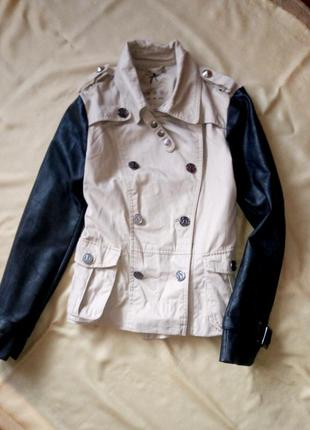 Крутое пальтишко,пальто ,куртка, косуха,кожзам,эко кожа,atmosphere