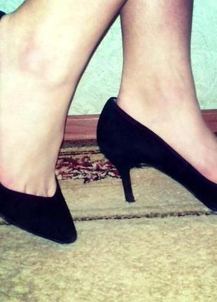 Замшевые туфли -лодочки от zara