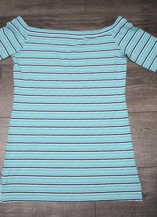 Полосатая футболочка со спущенными плечами s/m/l