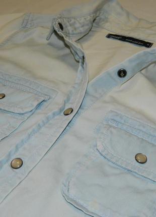 Джинсовая рубашка next с перламутровыми заклепками