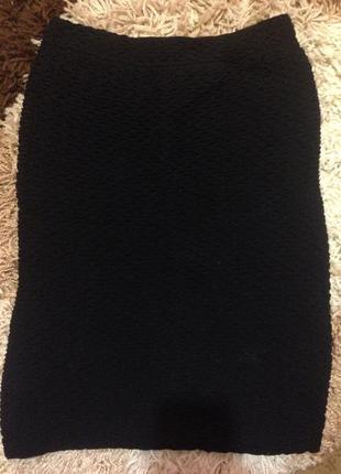 Чёрная юбка topshop✨