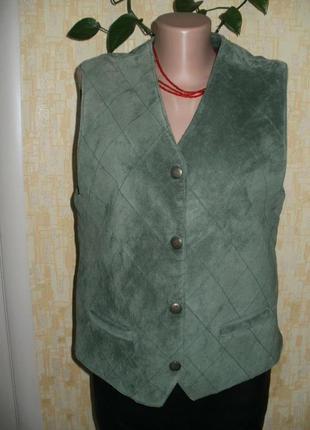 Жилетка замшевая жилет безрукавка накидка  кофта свитер куртка
