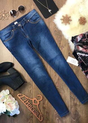 Универсальные джинсы-скинни с лаконичном дизайном в синем цвете    pn0307    f&f