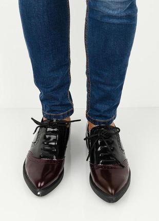 Ботинки броги туфли шнуровка lost ink
