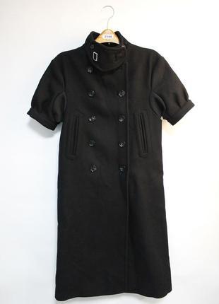Оригинальное теплое пальто от бренда h&m studio разм. 36