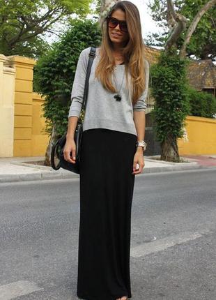 Длинная черная юбка