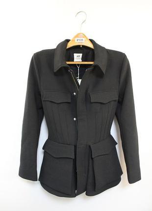 Оригинальная куртка-пиджак от бренда h&m studio разм. 34, 36