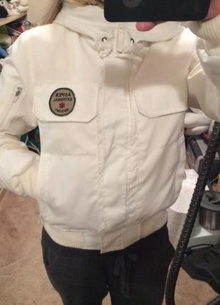 Зимний пуховик, зимняя куртка, vero moda, белый пуховик