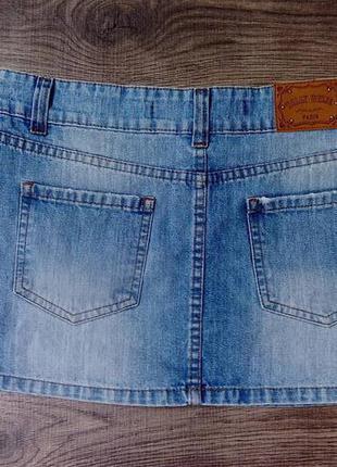 Базовая джинсовая мини юбка s-m