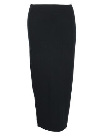 Черная трикотажная юбка в пол