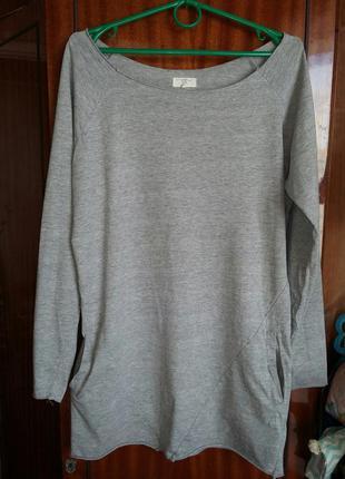 Крутая туника / платье / удлиненная кофта c карманамы new look