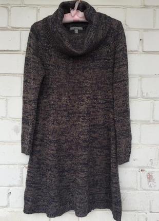 Тёплое вязанное зимнее платье от mango suit, размер s-m.