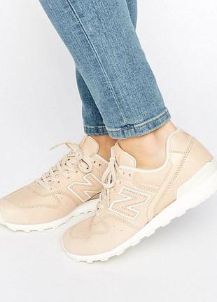 Телесные кожаные кроссовки new balance 996