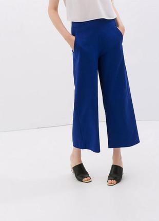 Укороченные широкие брюки кюлоты от zara