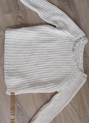 Стильный теплый свитер свитшот zara
