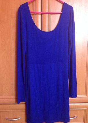 Контрастное синее платье от forever21✨