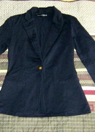 Пиджак трикотажный темно-синий atmosphere