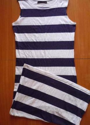 Супер платье в полоску 7-8 вискоза с-м