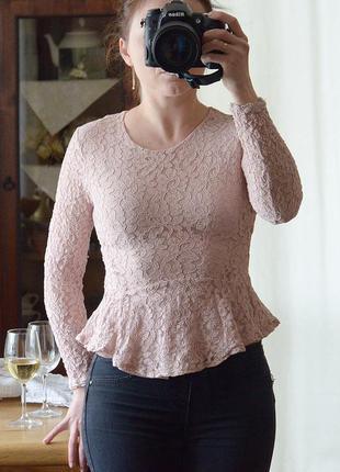 Ажурная блузочка с баской