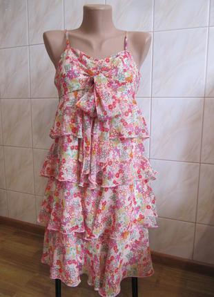Очень красивое банатошарове платье-сарафан от  new look