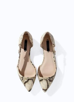 Открытые балетки туфли zara