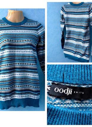 Светр свитер в орнамент oodji
