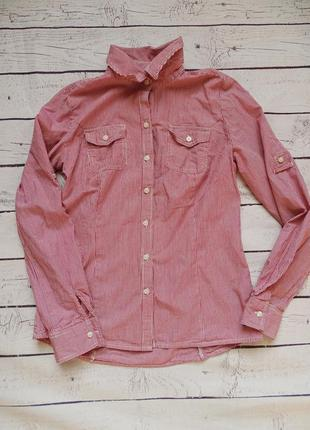 Рубашка в полоску tommy hifiger размер xs s маленький размер